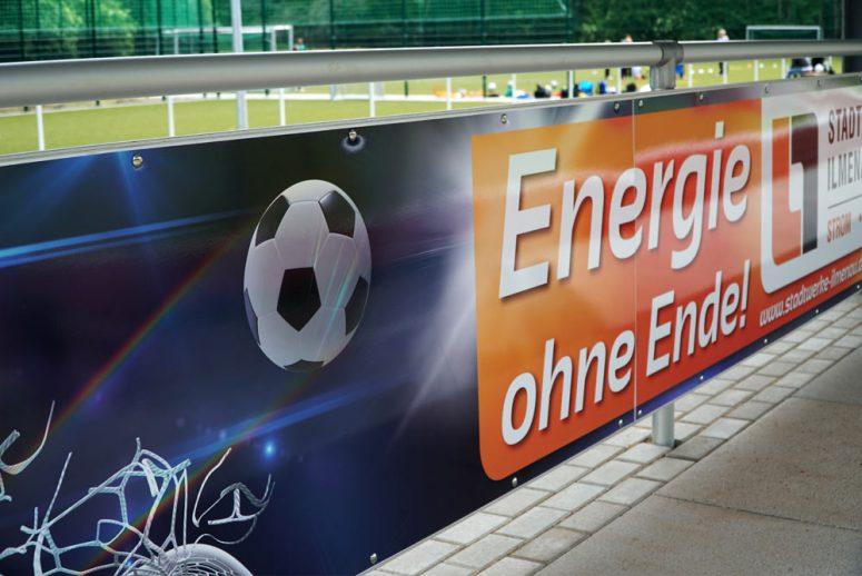 Werbebanner im Sportstadion Ilmenau